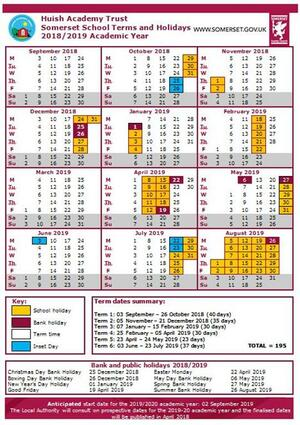 Term Dates 2018-19 with insets